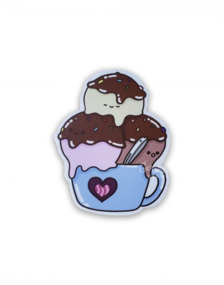 Ice cream vinyl sticker on white BG