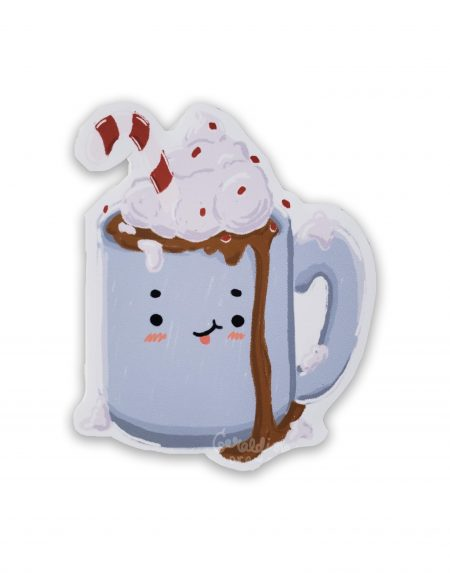 hot chocolate on white bg