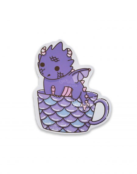 dragon sticker on white bg