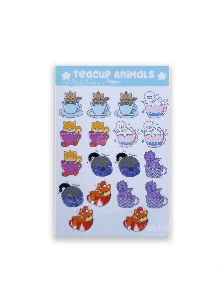teacup animals white bg