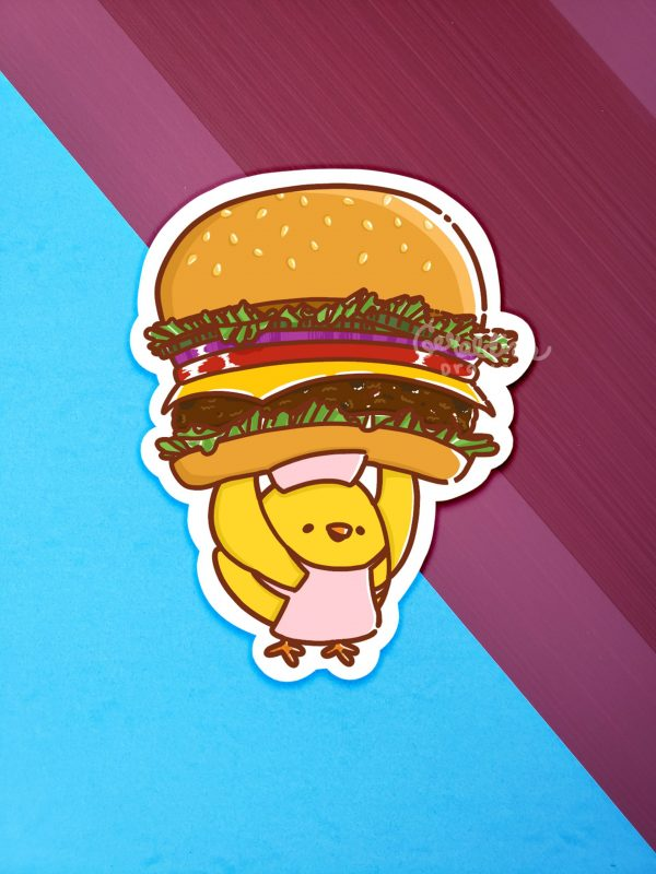 Cheeseburger Sticker 2