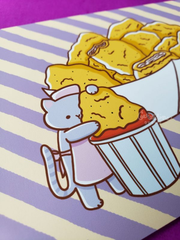 Chicken Nuggets Art Print Closeup 2