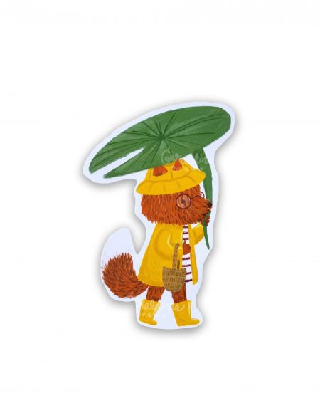 RainyFox sticker in white BG