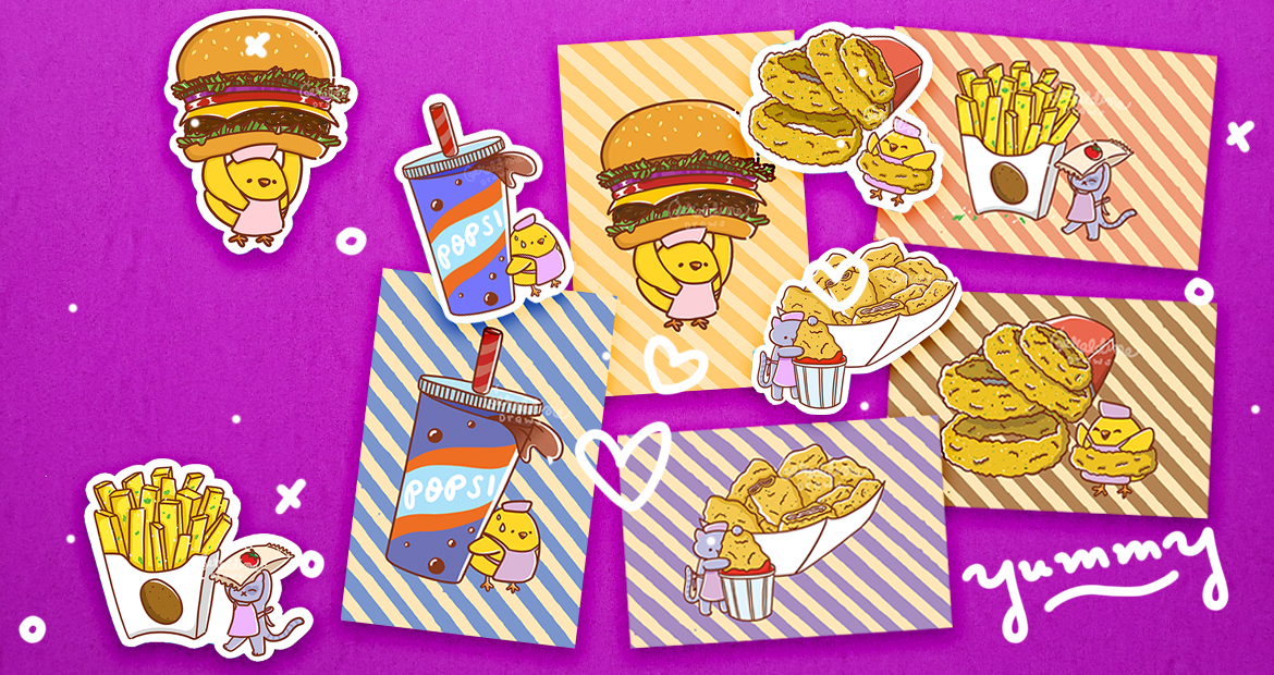 Fast Food series art prints and stickers cover