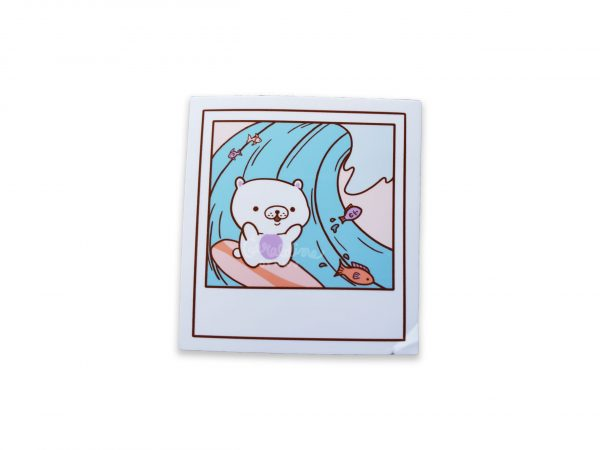 polaroid glossy sticker seconds