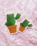 catcus clear glossy on pink bg