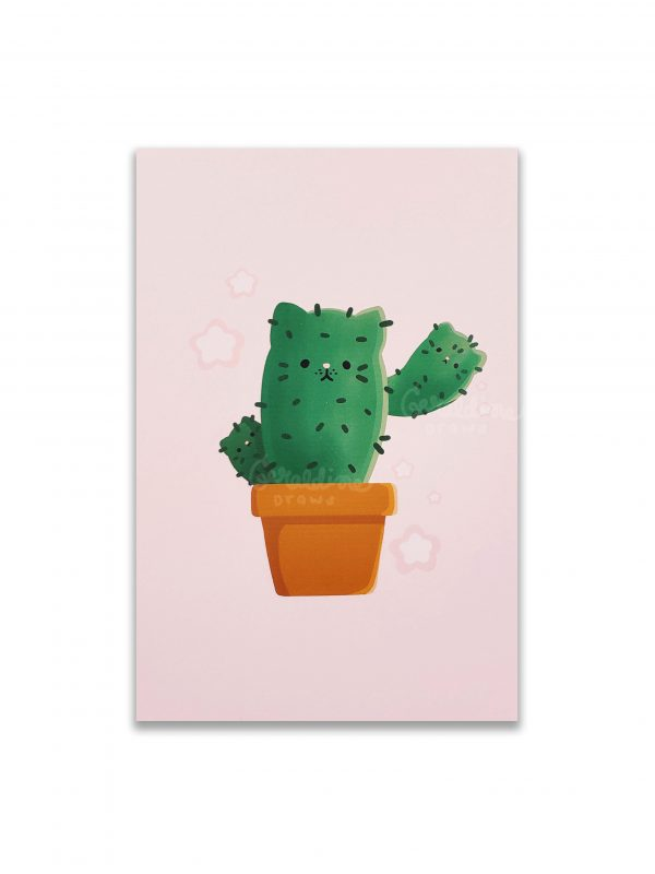 catcus print on white bg