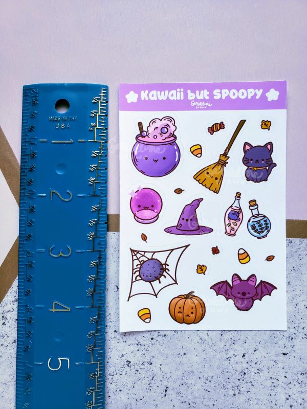 sticker sheet with ruler