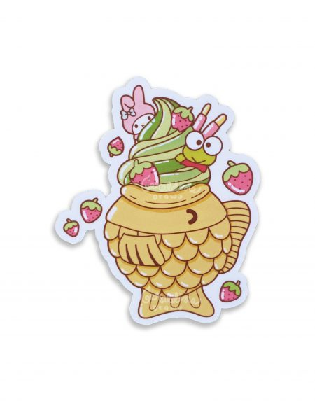 keroppi taiyaki sticker on white bg