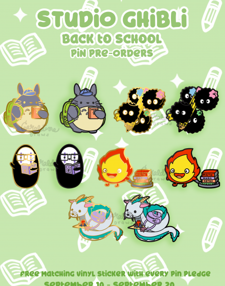 Studio Ghibli pin preorders
