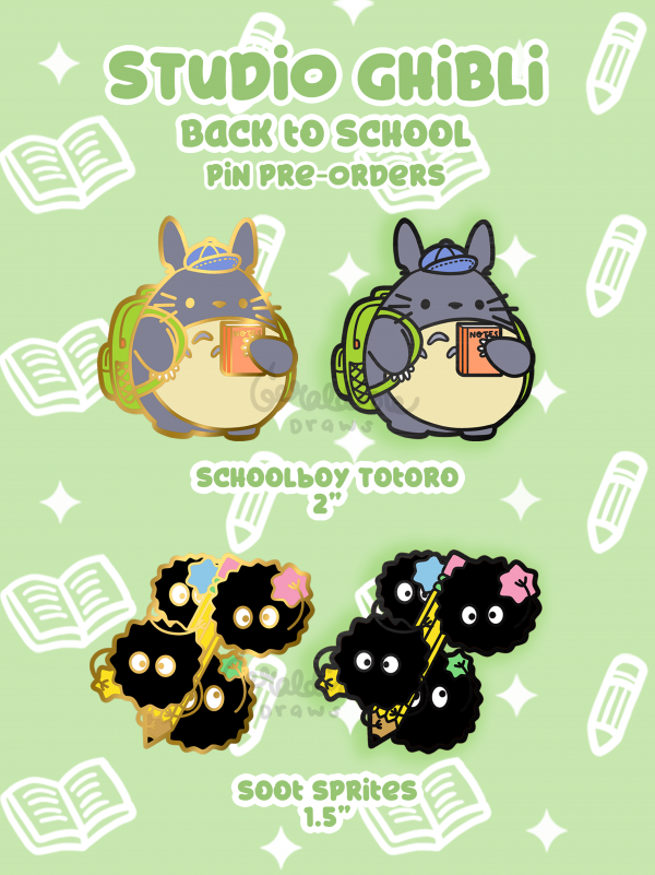 totoro and soot sprites pins