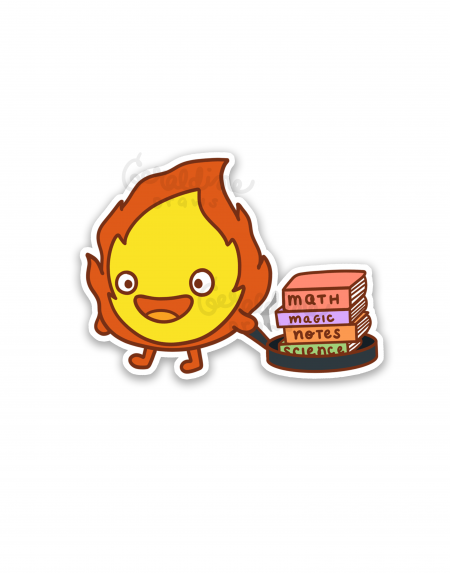 calcifer on white bg