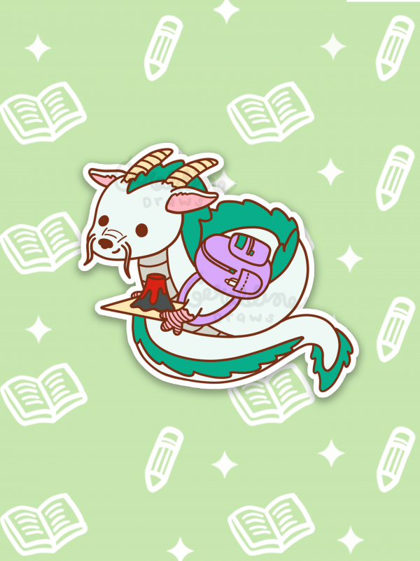 haku sticker on green BG