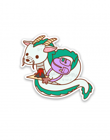 haku sticker on white bg