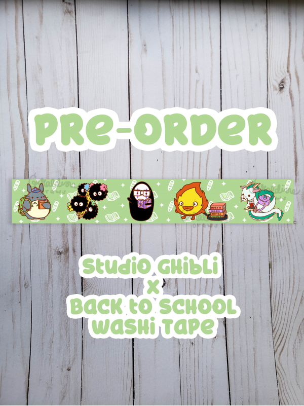 preorder-studio ghibli bts washi tape wood bg