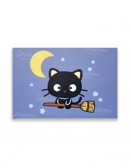chococat postcard on white bg