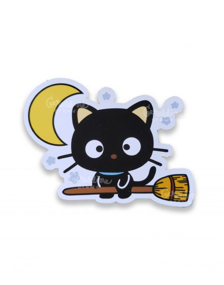 chococat die cut sticker on white bg