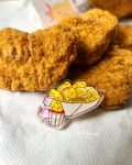 acrylic chicken nuggets pin view 2