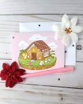 Gingerbread house greeting card