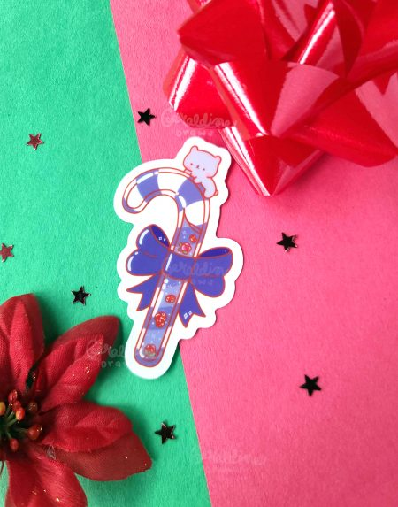 Aesthetic Candycane Transparent Sticker