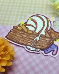 angled view of apple pie sticker