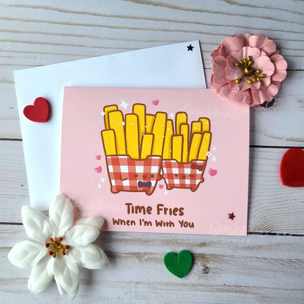 time fries greeting card