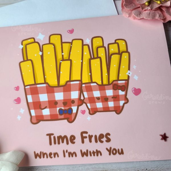 time fries greeting card view 2