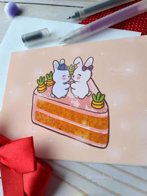 Bunny Lovers Greeting Card