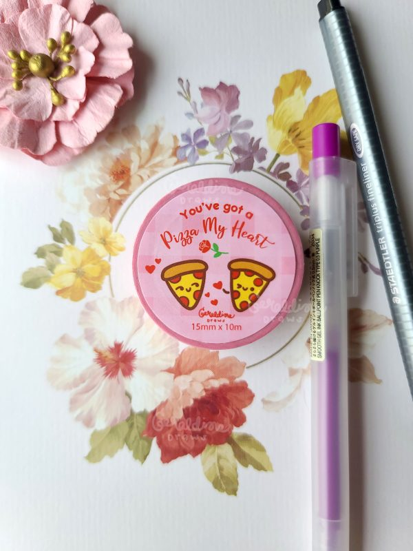 Pizza My Heart washi tape