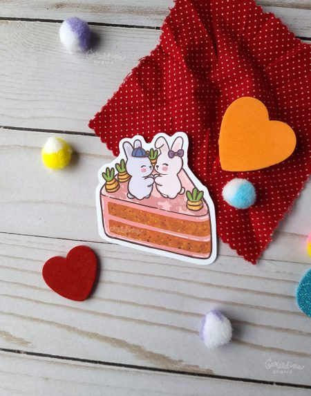 love bunnies sticker