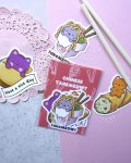 chinese takemeowt sticker pack view 2 with chopsticks