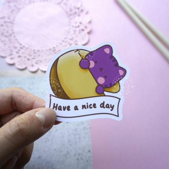 have a good day sticker